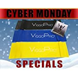 ViggoPro Resistance Bands for Exercises, Pilates, Crossfit Workouts ~ 3 Bands (Light, Medium, Tough) for men/women ~ Legs, Arms or Full Body ~ Best Durability, Enhance Your Workout Experience Now!