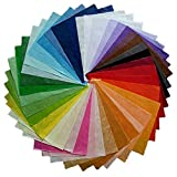 NAVA CHIANGMAI Thin Mulberry Paper 40 Sheets Design Craft Hand Made Art Tissue Japan Washi Design Craft Art Origami Suppliers Card Making (Color: Multicolored)