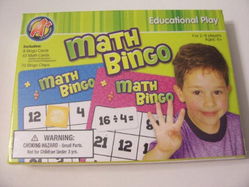 A+ Math Bingo Educational Play ~ 2-8 Players - 1
