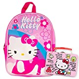 "Hello Kitty Preschool Backpack Toddler (11"") with Hello Kitty Lunch Box Snack Tin"
