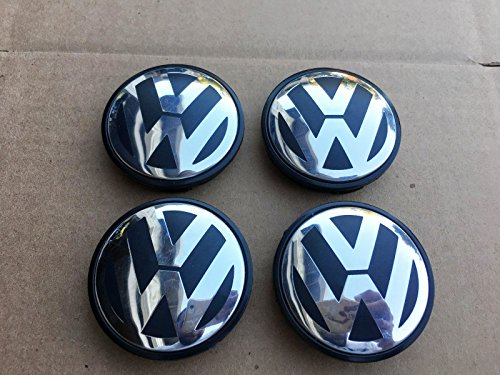 NEW SET OF 4 VOLKSWAGEN 70MM 2004-2010 VW TOUAREG CHROME CENTER WHEEL HUB CAPS (Vw Touareg Wheels compare prices)