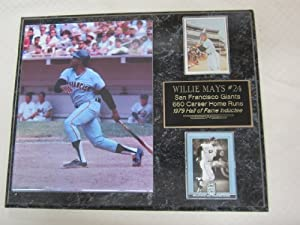 Willie Mays San Francisco Giants 2 Card Collector Plaque w 8x10 Photo by J & C Baseball Clubhouse
