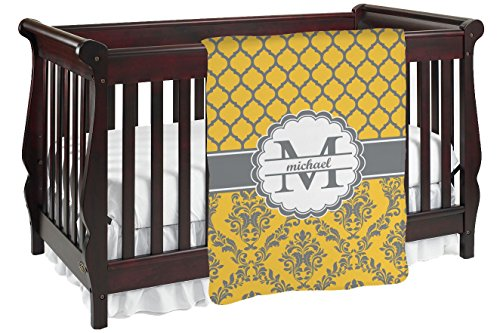 Damask & Moroccan Personalized Baby Blanket front-821432