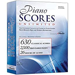 eMedia Piano Scores Unlimited Software for Windows and Mac, DVD-ROM