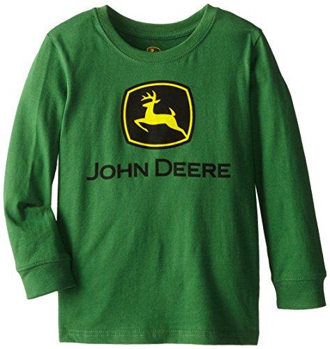 John Deere Little Boys' Basic Trademark Long Sleeve Tee, Green, 6 front-778343