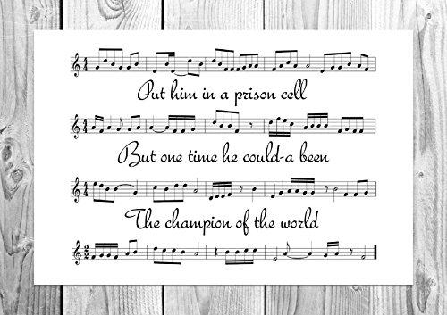 Hurricane-Spartito-Poster Bob Dylan Unique Art