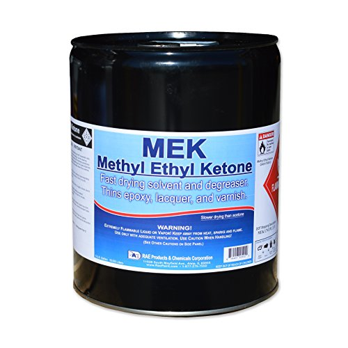 5-gallons MEK - Methyl Ethyl Ketone - Fast Drying Solvent and Degreaser - Thins Epoxy, Lacquer, and Varnish (Fiberglass Resin 5 Gallon compare prices)