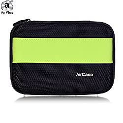 AirPlus AirCase Premium HDD Hard Disk Case Cover For External Hard Disk 2.5 Inch [GREEN-BLACK]