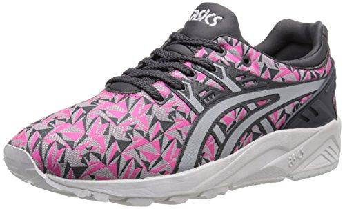 ASICS Women's GEL-Kayano Trainer Evo Retro Running Shoe, Knock Out Pink/Light Grey, 5.5 M US