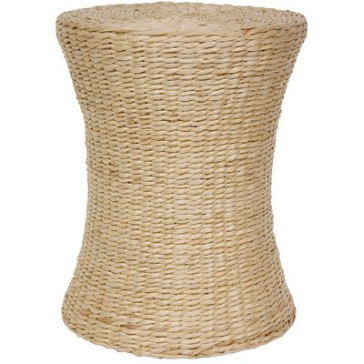 Oriental Furniture Woven Fiber Stool, Natural