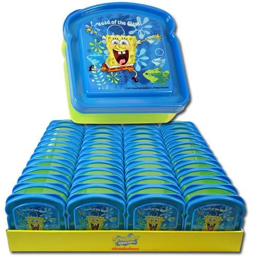Spongebob Squarepants Bread Shaped Sandwich Container - 1