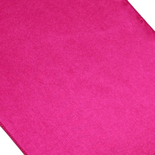 Koyal Wholesale 6-Pack Satin Table Runner, 12 By 108-Inch, Fuchsia