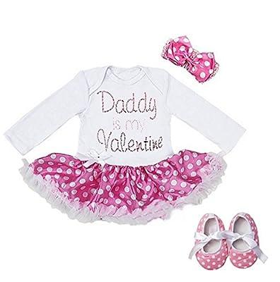 Valentine Polka Dots Bodysuit Tutu Set