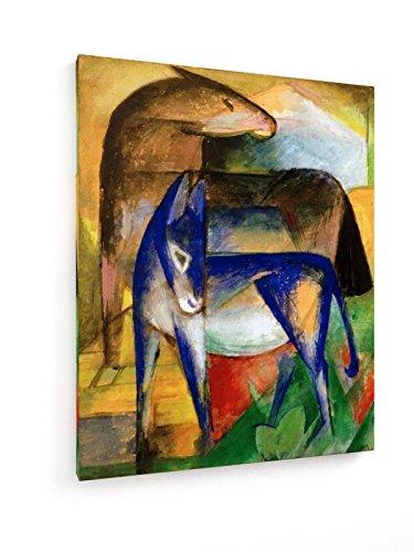 marc-dos-burros-azules-60x75-cm-weewado-impresiones-sobre-lienzo-muro-de-arte