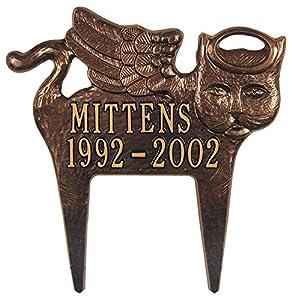Angel Cat Memorial Marker Finish: Antique Copper
