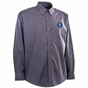 San Diego Padres Esteem Button Down Dress Shirt (Team Color) by Antigua