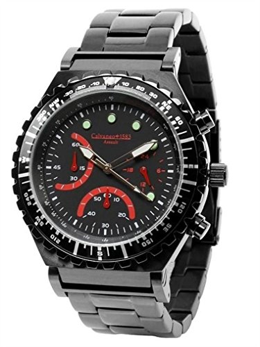 Calvaneo cm-ass-09Clock-Stainless Steel Plated Strap, Black