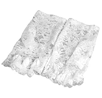 WMA Sexy Lace Short Fingerless Gloves French Maid Madonna 80's Retro Fancy Dress