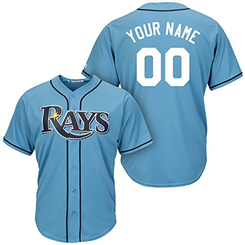Generic Tampa Bay Rays Personalized Light Blue Jerseys Evan Longoria #3 Men Size M(40)