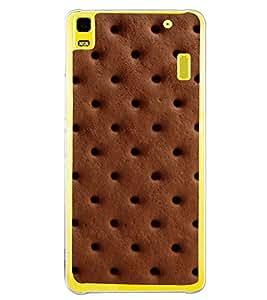 Chocolate Biscuit 2D Hard Polycarbonate Designer Back Case Cover for Lenovo K3 Note :: Lenovo A7000 Turbo