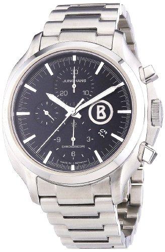 Junghans Uhren Bogner Willy Chronoscope 027/4266.44 - Orologio da polso da uomo, cinturino in acciaio inox colore argento