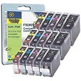 Canon CLI8 / PGI5 - 15 Cartouche d'encre Compatibles pour Pixma MP610 MP600 iP4500 iP4200 IP4300 MP830 MP500 iP5200 MP600R MX850 MP530 MP810 iP5100 iP5200R MP970 MP800 iP5300 MP800R MP950 MP960 IP7600 Cyan / Magenta / Jaune / Noir - Avec Puce