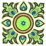 Rangoli - Unique Arts Designer Square Acrylic Rangoli - AR213