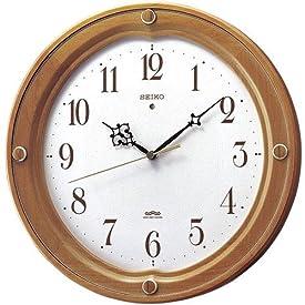 SEIKO CLOCK(セイコークロック) 電波掛け時計 ツイン・パ スイープ 木枠