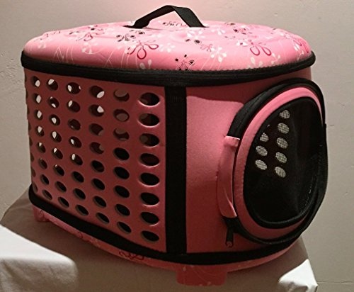 Pink Pet Carrier For Medium And Large Dogs And Cats – 17″x13″x15″ – By Paw Pals
