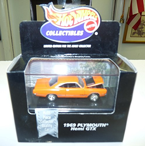 Hot Wheels Collectibles - Limited Edition Cool Collectibles - 1969 Plymouth Hemi GTX (Black) - Mounted in Collector's Display Case - 1