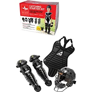 Ages 5-7 T-Ball Coach Pitch Catching Starter Kit (Chest Protector, Shin Guards &... by Authentic All-Star Sports Shop