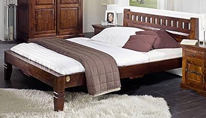 Koloniales Bett 160x200 Akazie Möbel massiv OXFORD #229