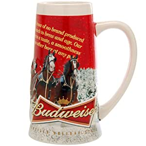 Amazon.com | 2013 Budweiser Holiday Stein: Beer Mugs: Beer