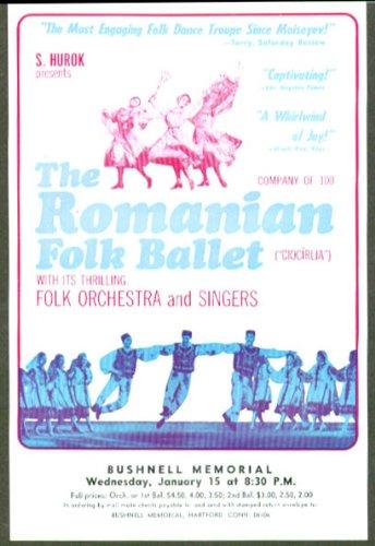 Romanian Folk Ballet Flyer Bushnell Hartford Ct 1975