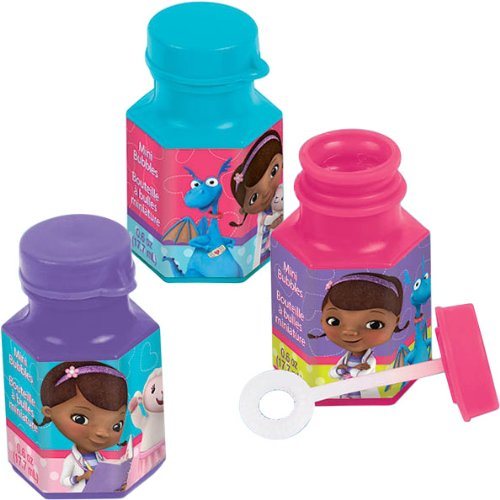 12-Piece Doc McStuffins Non-Toxic Bubble Solution, Mini, Multicolored - 1