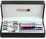 LGI 18pc Interchangeable Watch set - Premium Ladies Watch Set with Interchangeable Bands & Faces - Color Vary