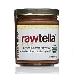 Rawtella - Gourmet Raw White Chocolate Hazelnut Spread - SILK (01/6 oz Jar)
