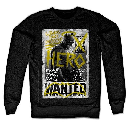 Officially Licensed Merchandise Gothams Dark Protector Sweatshirt (Black), XX-Large