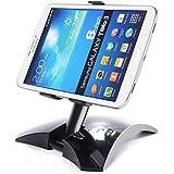 Xcellent Global Support de tablette pliable portable rotation à 360° support pour iPad mini et iPhone, télépones et tablettes de 12 à 16 cm M-CA022