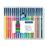 Staedtler Triplus Colour 323 SB20 Fibre Tip Pens In Desktop Box - 20 Assorted Coloursby Staedtler