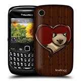 Head Case Cat In A Heart Wood Craft Back Case For BlackBerry Curve 8520 9300 3G