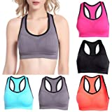 Banggood Women's Cut Out Seamless Wireless Yoga Bra Gym Bra Fitness Top Racerback Top