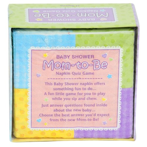 Amscan - Baby Shower Napkins With Trivia Game front-1066955