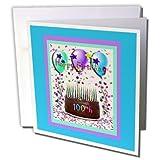 3dRose Happy Birthday 100th Chocola
