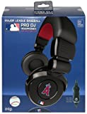 iHip Official MLB - LOS ANGELES ANGELS - Noise Isolation Pro DJ Quality Headphone with Detachable Cord and Built-In Microphone with Volume Control MLH26LAA