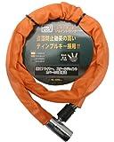 J&C(ジェイアンドシー) カラージョイントワイヤーロック [JC-024W] φ18x1200mm ライトオレンジ
