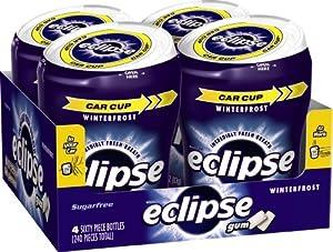 Eclipse Sugar Free Gum, Winterfrost, 60 Piece Big E Bottles (Pack of 4)