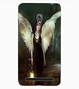 ColourCraft Angel Design Back Case Cover for ASUS ZENFONE 6 A600CG
