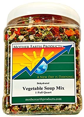 Mother Earth Products Dried Vegetable Soup, Quart Jar by Mother Earth Products
