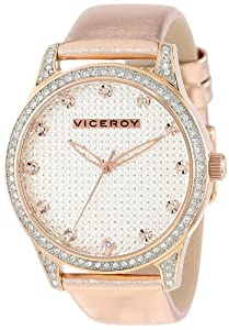 Viceroy Womens 40700-97 Rose Gold Ion-Plated Stainless Steel and Metallic Patent Leather Watch
